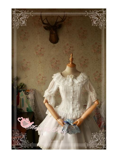 Magic Tea Party Cross And Censer Series Chiffon Short Sleeves Lolita Shirt