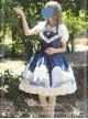 Magic Tea Party Starry Sky Series Star-shaped Collar Chiffon Short Sleeves Classic Lolita Shirt