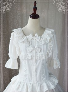 Magic Tea Party Wind's Child Series White Short Sleeve Lolita Shirt