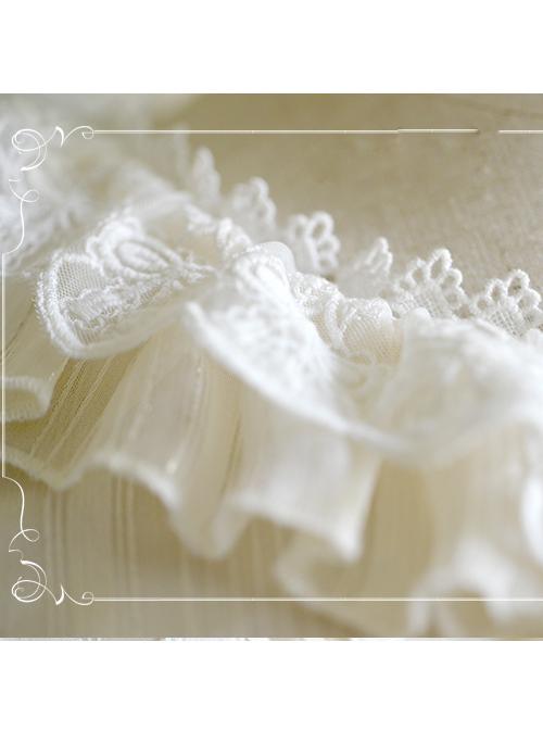 Round Collar Trumpet Sleeve Chiffon Lolita Shirt