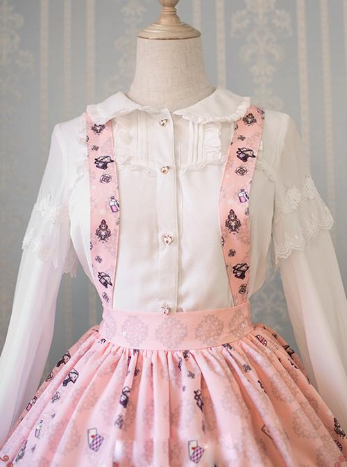 The Dreamland Of Alice Series Chiffon Doll Collar Classic Lolita Long Sleeve Shirt