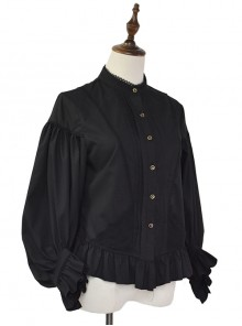 Retro Handsome Classic Lolita Long Lantern Sleeve Shirt