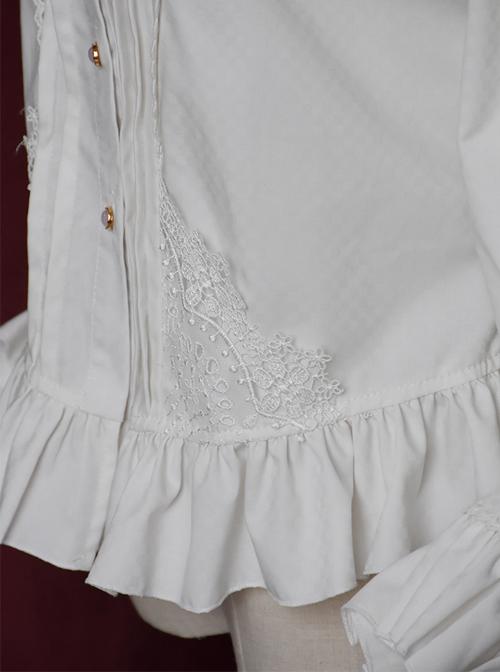 Retro Handsome Classic Lolita Long Lantern Sleeve Shirt