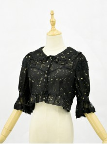 Bronzing Constellation Doll Collar Classic Lolita Shirt