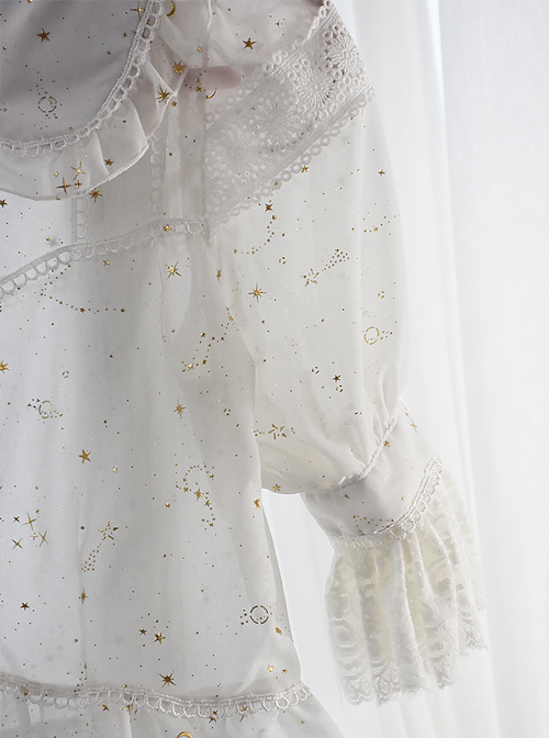 Bronzing Constellation Doll Collar Classic Lolita Shirt