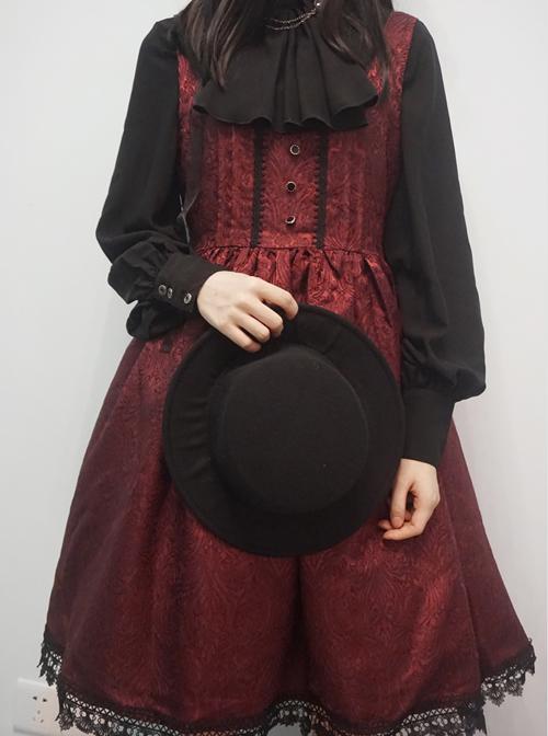 Elegant Lapel Gothic Lolita Long Sleeve Retro Shirt