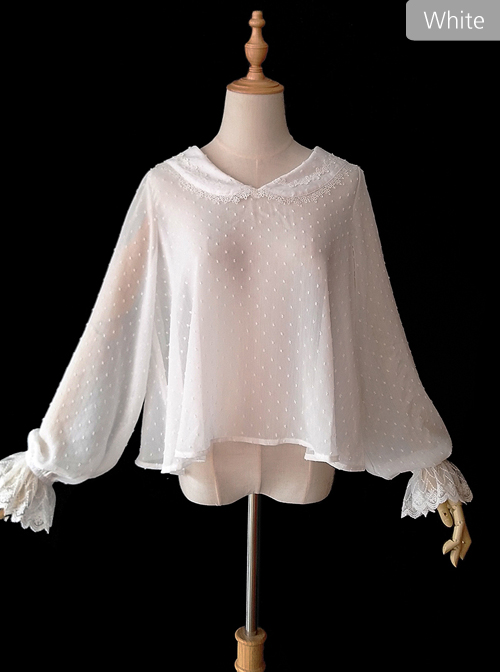 Bear Ears Series Chiffon Classic Lolita Long Sleeve Shirt
