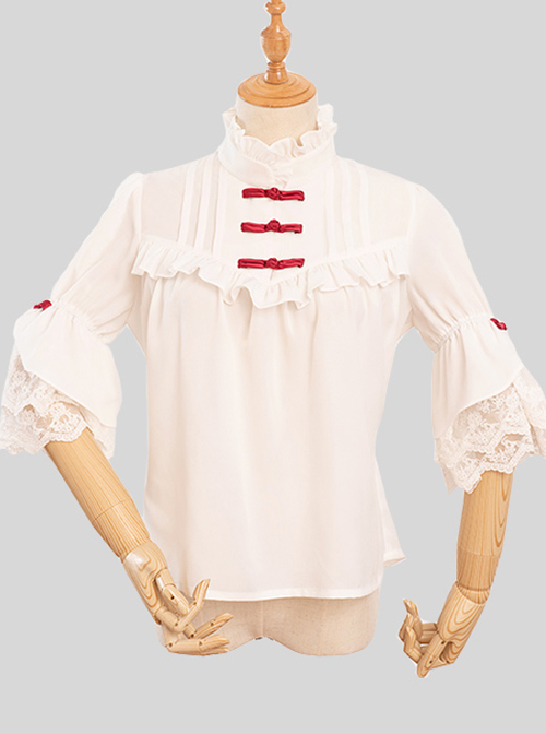 Magic Tea Party City Of Aurora Series Blouses Chinese Style Classic Lolita Short Sleeve Shirt