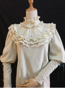 Ruffles Leg-of-mutton Sleeves Classic Lolita Elegance Shirt