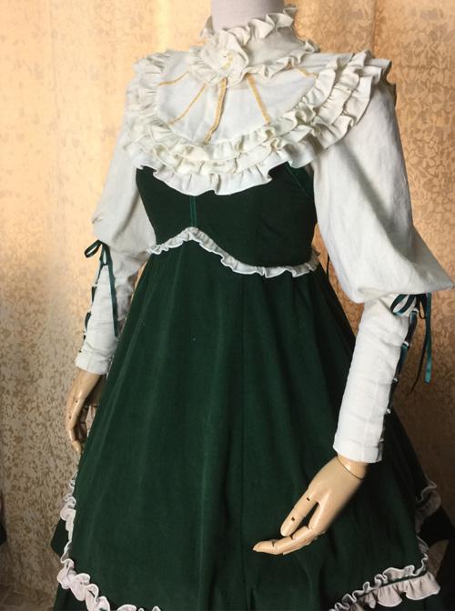 Ruffles Leg-of-mutton Sleeves Classic Lolita Elegance Shirt