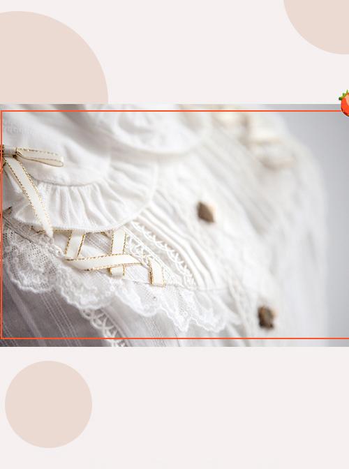Alice's Dreamland Series White Doll Collar Short Sleeve Classic Lolita Shirt