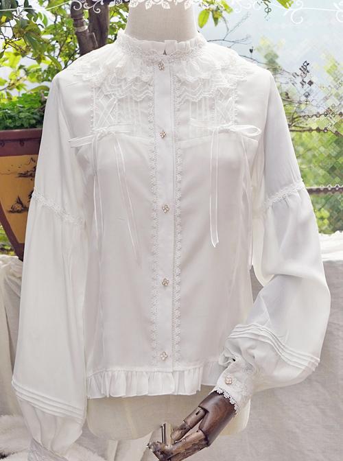 Honey Granulated Sugar Series Elegance Classic Lolita Long Sleeve Shirt