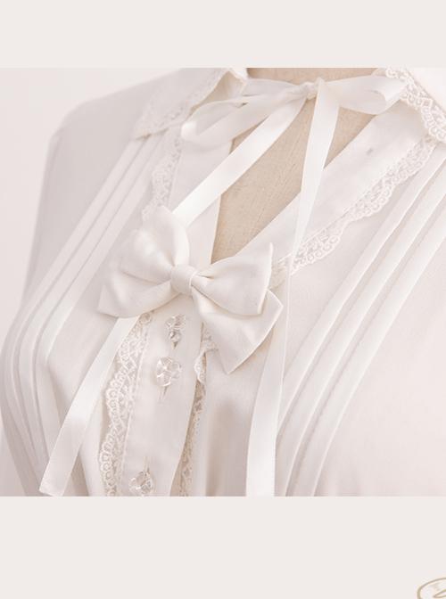 Magic Tea Party Handmade Girl's Hat Shop Series Classic Lolita White Long Sleeve Shirt