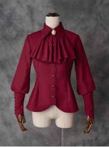 Drunk Dream Series Lapel Shirt Gothic Lolita Slim Sheep-leg Sleeves Blouses