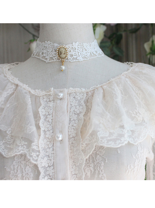 The Poetry Of Roses Series Classic Lolita Lace Elegant Sunscreen Shirt Short Blouse