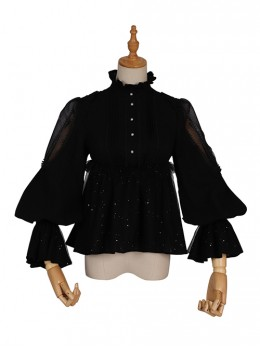 Divine Salvation Series Retro High Collar Gothic Lolita Long Sleeve Shirt