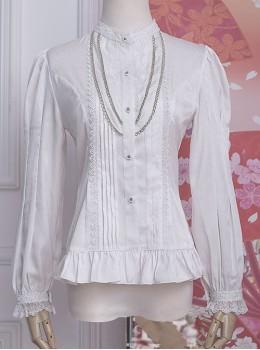 Strawberry Witch *The Fairytale Drama Of Chibor* Series Retro Slim Classic Lolita Long Sleeve Shirt