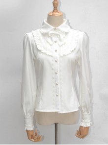 Lace Ruffle Retro Long Sleeve Classic Lolita Shirt