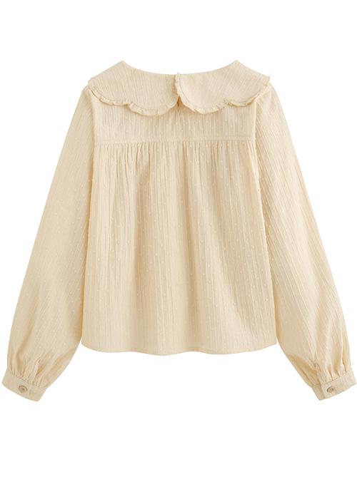 Petal Collar Jacquard Long Sleeve Sweet Lolita Shirt