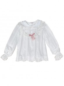 Doll Collar Ruffle Long Sleeve Sweet Lolita Shirt