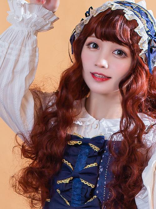 Doll Collar Ruffle Long Sleeve Sweet Lolita Shirt