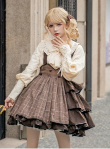 Vanilla Latte Series Retro Elegant Classic Lolita Long Sleeve Shirt