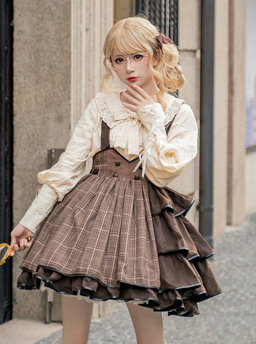 Vanilla Latte Series Retro Elegant Classic Lolita Long Sleeve Shirt