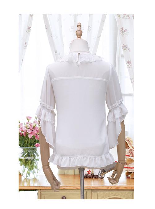 Cicadas Chirping Series Bowknot Sweet Lolita Short Sleeve Shirt