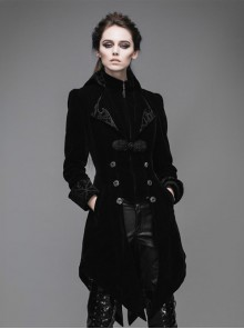Steam Punk Gothic Medium Length Slim Fit Women's Velveteen Tuxedo