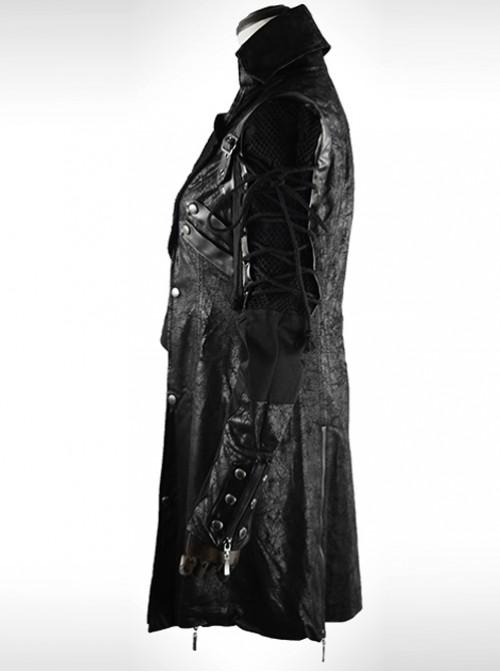Fancy Palace Gothic Prom Lapel Slim Fit Men's Windbreaker