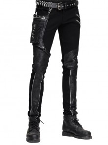 Steampunk Gear Rivet Small Bags Men's Trousers