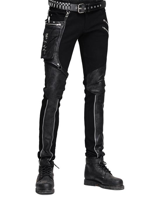 Steampunk Gear Rivet Small Bags Men's Trousers
