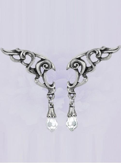 Punk Baroque Eternal Wings Crystal Earrings