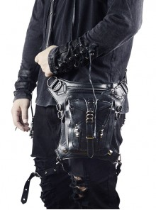 Steam Punk Retro Unisex Black Inclined Shoulder Bag