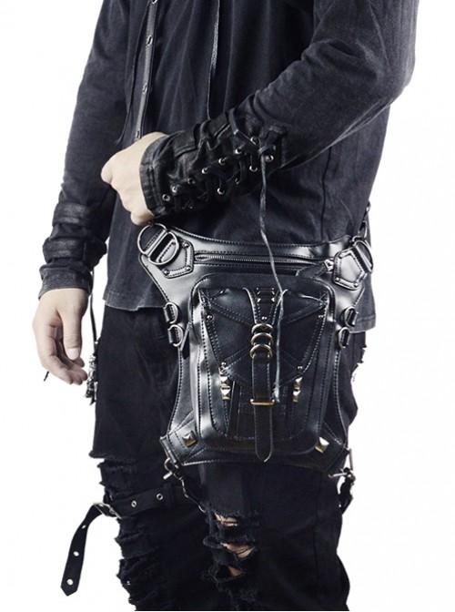 Steam Punk Retro Unisex Black Inclined Shoulder Bag