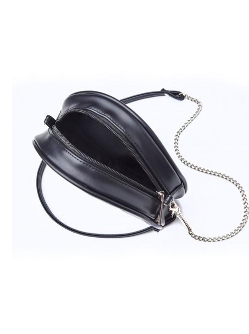 Punk Gothic Retro Purple Cross Black Single Shoulder Bag