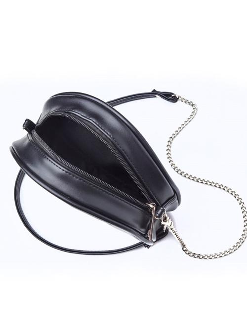 Gothic White Pentagram Black Shoulder Bag Inclined Bag