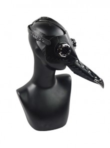Steampunk Pestilence Black Long Beak Doctor Halloween Party Gothic Cosplay Mask