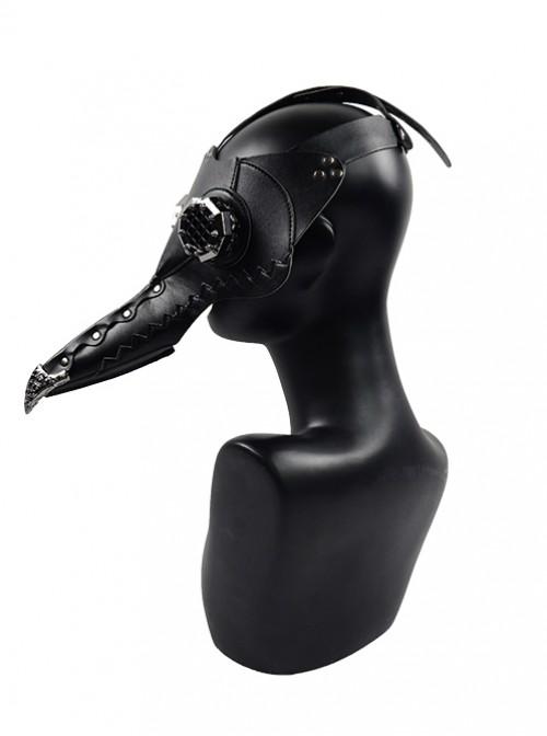 Steampunk Pestilence Black Long Beak Doctor Halloween Party Gothic Cosplay Mask