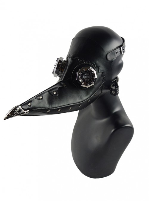 Steampunk Pestilence Black Long Beak Doctor Gothic Halloween Party Cosplay Mask