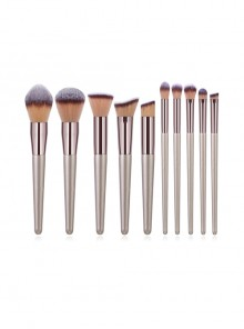 10 Champagne Golden Makeup Brushes Set Little Grape Makeup Brush Eye Brush