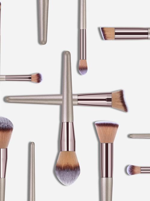 10 Champagne Golden Makeup Brushes Set Little Grape Makeup Brush Eye Brush