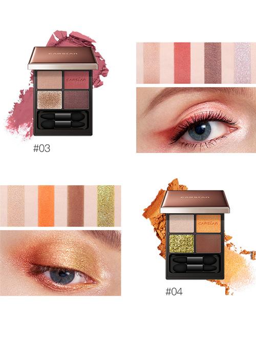 CARSLAN Big Eyes Vibrant Four-Color Eyeshadow Collocation 1