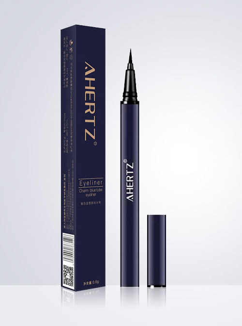 [Warm Water Can Remove Makeup] Blue Tube Waterproof Eye Liner