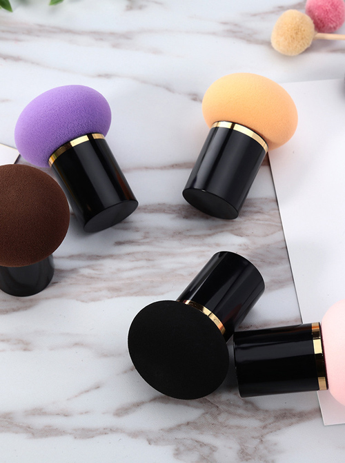 Dry And Wet Dual-use Multicolor Mushroom Makeup Powder Puff