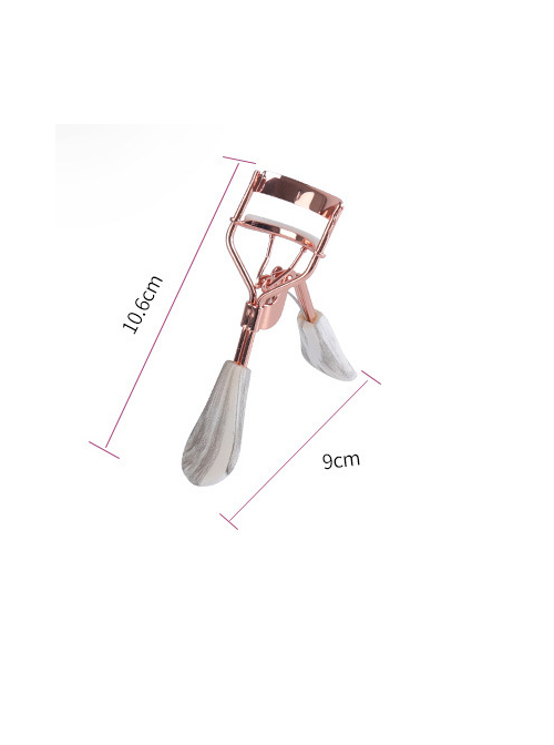 A4 Rose Gold Plating White-gray Handle Wide-angle Eyelash Curler