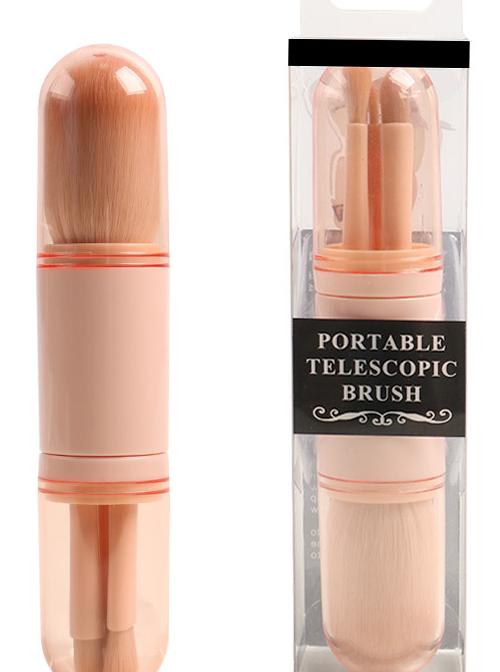 4-in-1 Retractable Makeup Brush Portable Makeup Brush