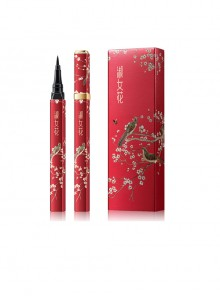 Chinese Style White Crane Plum Blossom Pattern Waterproof Durable Eyeliner