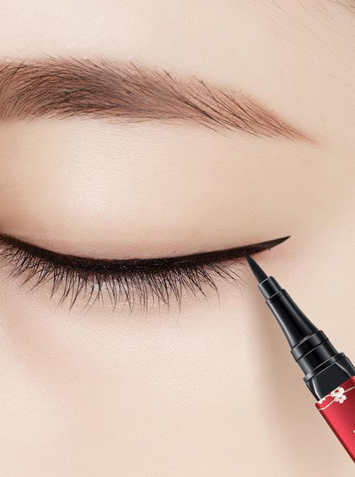 Chinese Style White Crane Plum Blossom Pattern Waterproof Durable Eyeliner