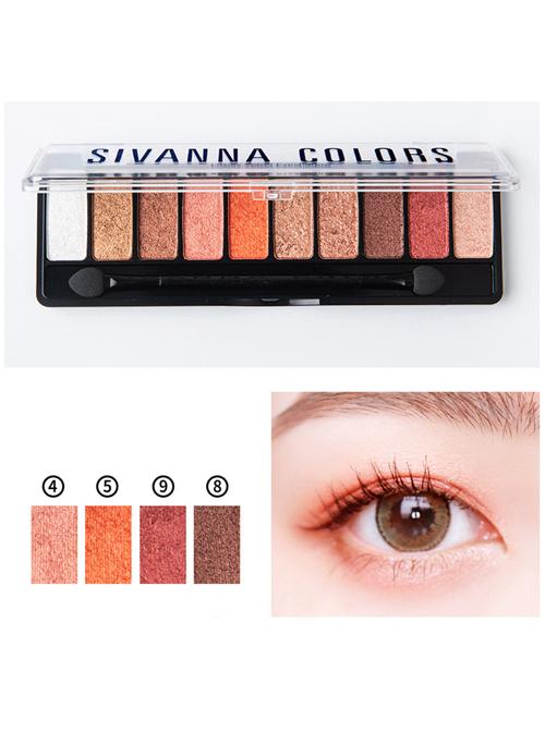SIVANNA Luxury Velvet Pearlescent Ten colors Eyeshadow Palette